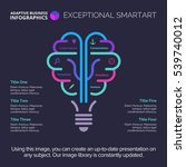 brainstorm diagram template   Shutterstock .eps vector #539740012