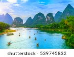 guilin lijiang beautiful scenery | Shutterstock . vector #539745832