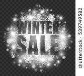 winter sale vector illustration ... | Shutterstock .eps vector #539749582