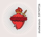 immaculate heart of blessed... | Shutterstock .eps vector #539749726