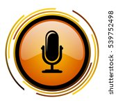 microphone podcast sign vector... | Shutterstock .eps vector #539752498