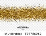 golden shiny tinsel square... | Shutterstock .eps vector #539756062