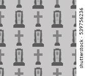 gravestone seamless pattern on... | Shutterstock . vector #539756236
