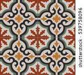 vintage tiles intricate details ... | Shutterstock .eps vector #539758096