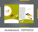 template designs of menu with... | Shutterstock .eps vector #53976523