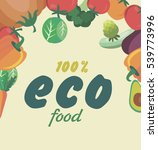 healthy food card. vector... | Shutterstock .eps vector #539773996