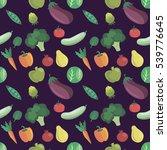 vector vegetables pattern....   Shutterstock .eps vector #539776645