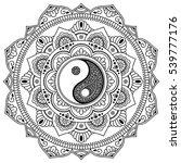 vector henna tatoo mandala.yin... | Shutterstock .eps vector #539777176