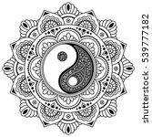 vector henna tatoo mandala.yin... | Shutterstock .eps vector #539777182