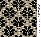 seamless black lace pattern on... | Shutterstock . vector #539780365