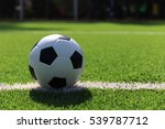 soccer ball on soccer field | Shutterstock . vector #539787712