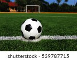 soccer ball on soccer field | Shutterstock . vector #539787715