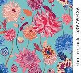 asian flower illustration... | Shutterstock .eps vector #539790436