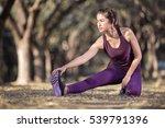 young fitness woman runner... | Shutterstock . vector #539791396