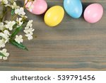 Wreath Of Colorful Easter Eggs...
