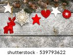 christmas decoration over... | Shutterstock . vector #539793622
