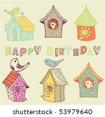 Starling Houses. Birthday Card