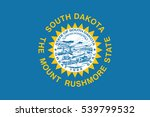 flag of south dakota state  usa.... | Shutterstock .eps vector #539799532