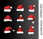 santa hat vector symbol... | Shutterstock .eps vector #539801302