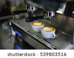 coffee latte art with coffee... | Shutterstock . vector #539803516