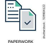 paperwork vector icon  | Shutterstock .eps vector #539804122