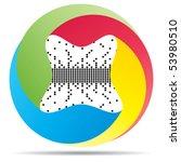 pixel button | Shutterstock .eps vector #53980510