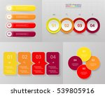 vector infographic set.... | Shutterstock .eps vector #539805916