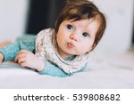 cute little four month old baby ... | Shutterstock . vector #539808682