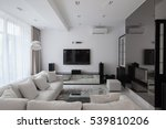 white modern apartments with... | Shutterstock . vector #539810206