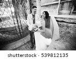 wedding couple outdoor with... | Shutterstock . vector #539812135