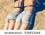 girls at the beach. beautiful... | Shutterstock . vector #539812666