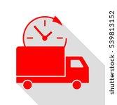 delivery sign illustration. red ...