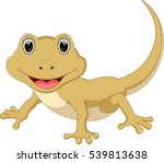 cute lizard cartoon | Shutterstock .eps vector #539813638