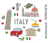 italy travel and culture | Shutterstock .eps vector #539814676