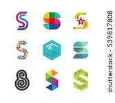 letter s logo set. color icon... | Shutterstock .eps vector #539817808