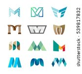 letter m logo set. color icon... | Shutterstock .eps vector #539817832