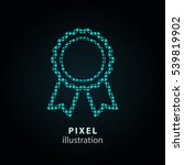 award   pixel icon. vector... | Shutterstock .eps vector #539819902