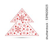 christmas tree with snowflakes | Shutterstock .eps vector #539820025