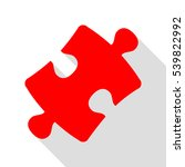 puzzle piece sign. red icon... | Shutterstock .eps vector #539822992
