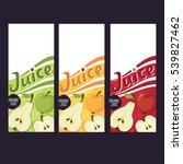 vector fruit juice pack vector... | Shutterstock .eps vector #539827462