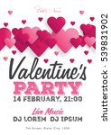 valentine's day invitation... | Shutterstock .eps vector #539831902