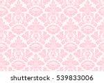 vector seamless floral damask... | Shutterstock . vector #539833006