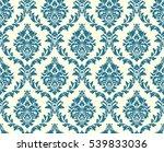 vector seamless floral damask... | Shutterstock . vector #539833036