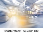 blurred warehouse interior with ... | Shutterstock . vector #539834182