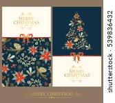 vector set. golden christmas... | Shutterstock .eps vector #539836432