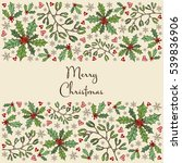 christmas and new year card... | Shutterstock .eps vector #539836906