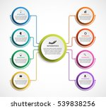 infographic design organization ... | Shutterstock .eps vector #539838256