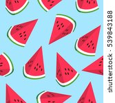 seamless pattern with... | Shutterstock . vector #539843188