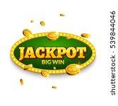 Jackpot Gambling Retro Banner...