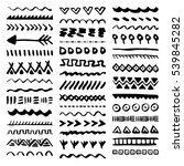 collection of hand drawn... | Shutterstock .eps vector #539845282